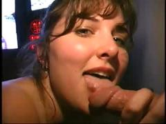 Lovely amateur at the glory hole scene 01