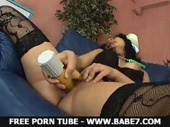 megumi, haruka, asian, model, rides, dildo, and, gets