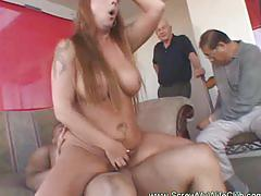 Chubby tattoed wife screwed huge cock
