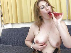 Horny mature found her sex toy