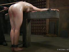 Blonde spanked and humiliated