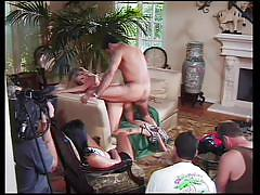 Evan stone gets a blonde and brunette in retro action