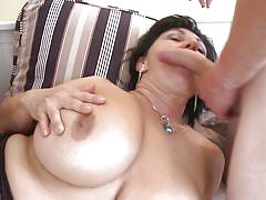 Slutty bbw takes two cocks