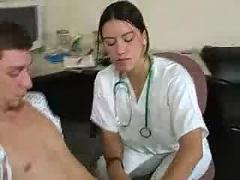 Doctor handjob young boys cock