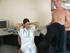 Doctor handjob young boys cock