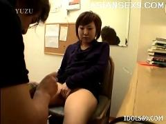yuu, sexy, asian, office, girl, gets, rear, fucking