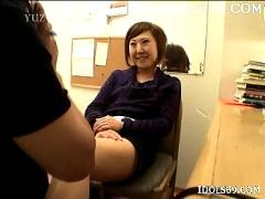 Yuu sexy asian office girl gets a rear fucking