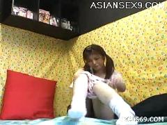 Yuzuru masturbate horny asian slutty teen enjoys her toys