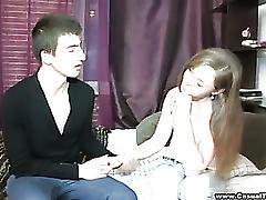 Curious teen explores casual sex