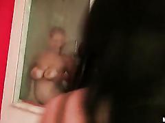 Bathroom booby bonanza
