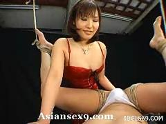 Nao ayukawa naughty asian babe likes tying her guy up and giving a blowjob