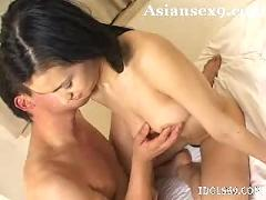 Maria ozawa asian hottie  gets her lovely perfect body fucked hrd with huge cock