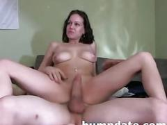 Hot amateur couple fucking on webcam