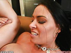 Busty milf gets rammed on the couch
