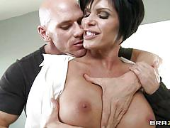 Shay fox gets her huge boobs licked