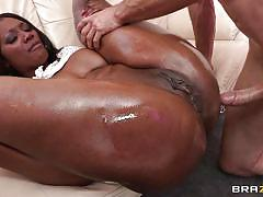 Nyomi banxxx gets a hard white cock in the ass