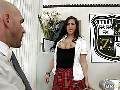 School girl seducing teacher