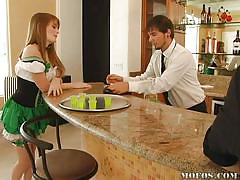 redhead, young teen, eating pussy, irish, bar, faye reagan, teens at work, mofos cash