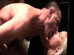 Awesome blonde suck and fuck