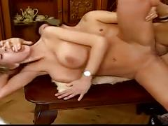 Vintage blonde big natural boobs anal
