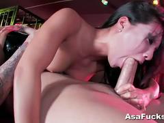 Nasty threeway with asa akira