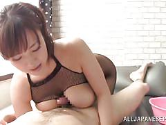 Big breasted babe gives a soap massage