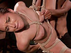 Gabriella paltrova in tight bondage and assfucked