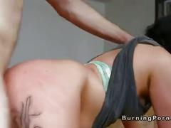 Tattooed asian babe london lanchester gets breasts cumshot