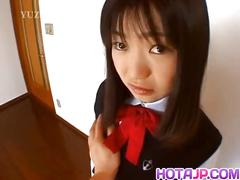 Anna kuramoto gets vibrator under uniform