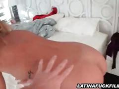 Latina cutie gets caught fucking at the gym