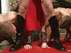 tattoo, bdsm, costume, blowjob, group sex, roman, roleplay, gay, centurion, bound gods, kink men, van darkholme, connor maguire, connor patricks, alex adams, christian wilde