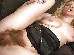Hairy muffin blonde likes it big and black