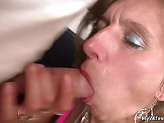 Horny older bitch fucking her daughter's boyfriend