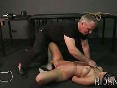 Master white fucks her asian slave hard and rough.