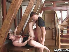 Mature invited her son-in-law for a casual fuck