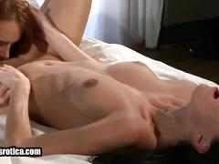 Two hot lesbians take turns licking each other