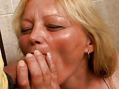 Grandma gets dirty after showering @ i wanna cum inside your grandma #05