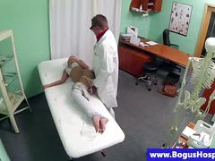 Bogus doctor pussy ravaging patient doggstyle