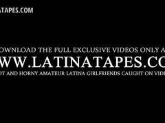 Pussy finger teasing in pov for brunette teen latina