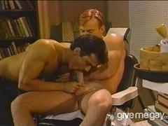 Two gays sucking their dicks and having anal sex.
