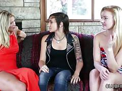 Scarlet red, dynamite, and nikki hearts in a threesome!