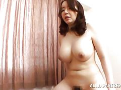 Busty japanese milf gets cum filled
