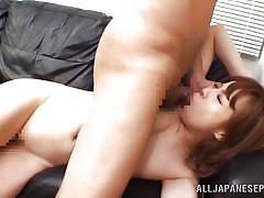 Nippon slut fucked & creamed on the couch