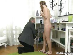 Sveta and her bf in old vs young threesome