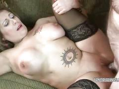 Blonde sandie marquez fucked hard in her stockings