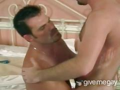Daddies stuffing each other with cocks