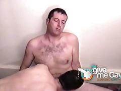 Amateur dilf gay guys sucks each other big cocks.