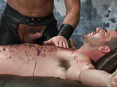 bondage, bdsm, gays, tied up, candle, hot wax, bound gods, kink men, billy santoro, dirk caber