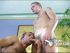 Horny dudes sucks each other big cocks and fucks.