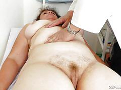 Old chunky whore with a tight pussy